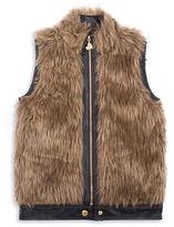 Betsey Johnson Girls 7-16 Sleeveless Faux Fur Vest