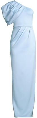 Black Halo Egan One-Shoulder Gown