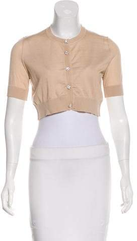 Dolce & Gabbana Cashmere Embellished Cardigan w/ Tags