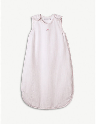 The Little White Company Floral-embroidered cotton-blend sleeping bag 0-6 months