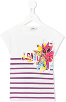 Junior Gaultier striped T-shirt - kids - Cotton/Spandex/Elastane - 4 yrs