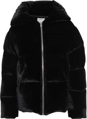 Sandro Quilted Velvet Coat