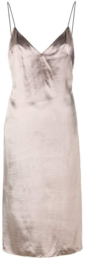 Rag & Bone metallic shift dress