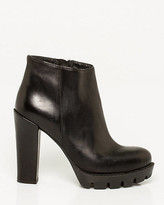 Le Château Italian-Made Leather Lug Sole Ankle Boot