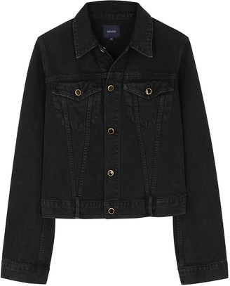 KHAITE Richard Black Denim Jacket