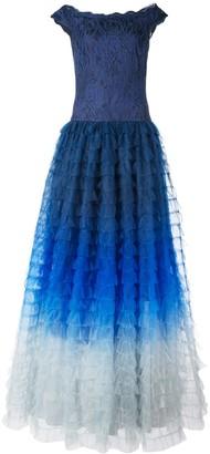 Tadashi Shoji Ombre Flared Gown