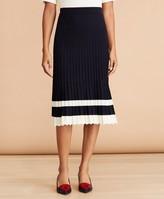 Brooks Brothers Pleated Sweater Midi Skirt
