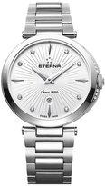 Eterna Women's Grace 32mm Steel Bracelet & Case Sapphire Crystal Quartz White Dial Watch 2560-54-66-1713