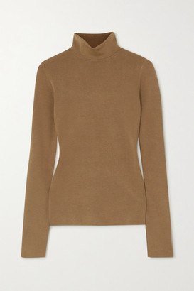 Joseph Silk-blend Turtleneck Sweater - Mustard