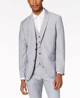 INC International Concepts Inc Men Slim-Fit Gray Suit Jacket