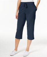 Karen Scott Pull-On Knit Capri Pants, Created for Macy's