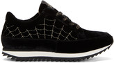 Charlotte Olympia Black Velvet work It Sneakers