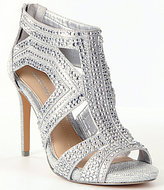 Gianni Bini Sianna Metallic Fabric Jeweled Beaded Dress Sandals