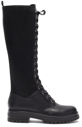 Gianvito Rossi Martis Lace-up Leather Knee-high Boots - Black