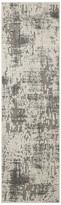 "Nourison Michael Amini Gleam Area Rug, Ivory/Gray, 2'2""x7'6"" Runner"