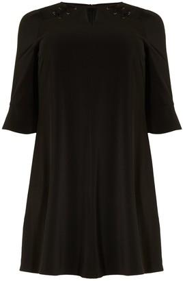 Studio 8 Milly Lace Up Dress, Black