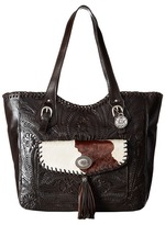 American West Annie's Secret Collection Large Zip Top Tote Tote Handbags