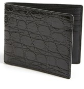 Boconi Men's Crocodile Wallet - Black