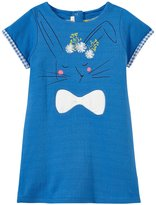 Billieblush Double Fabric Jersey Dress (Toddler) - Bleu Marin-2 Years