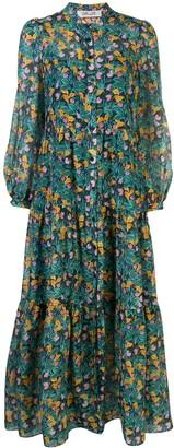 Dvf Diane Von Furstenberg Floral Print Tiered Dress