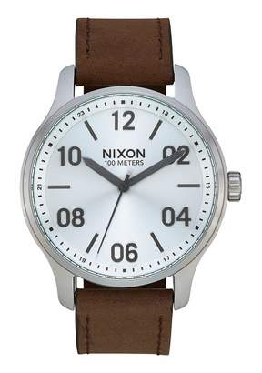 Nixon Unisex Adult Analogue Quartz Watch with Leather Strap A1243-1113-00