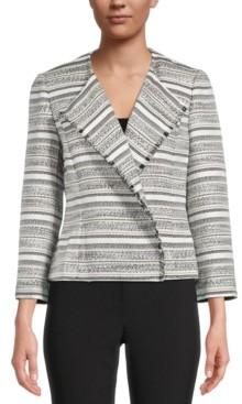 Kasper Petite Striped Jacket