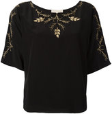 Vanessa Bruno embroidered blouse - women - Silk/Polyester - 36