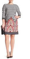 London Times Matte Jersey Shift Dress (Plus Size)