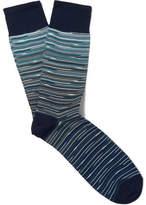 Missoni Patterned Cotton-blend Socks - Blue