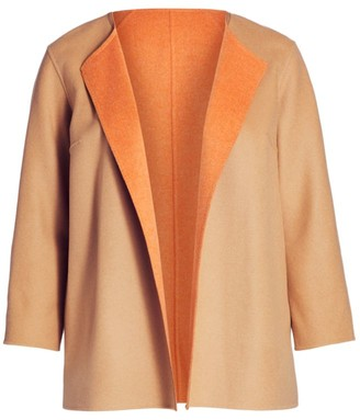 Lafayette 148 New York, Plus Size Reversible Royston Coat