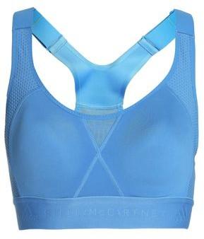 adidas by Stella McCartney Cutout Mesh-trimmed Stretch Sports Bra