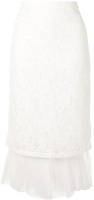 SHUSHU/TONG Tulle-Lined Pencil Skirt