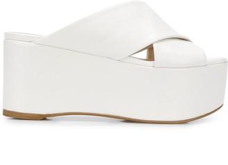 Furla Cross Strap Platform Sandals