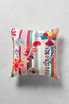 Anthropologie Harper Embroidered Pillow