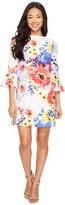 Tahari by Arthur S. Levine Petite Flounce Sleeve Floral Shift Dress