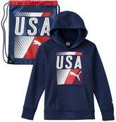 Puma Boys 8-20 USA Hoodie and Drawstring Bag Set