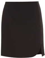 Thierry Mugler Asymmetric stretch-cady mini skirt