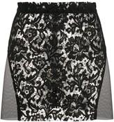 Loulou floral lace mini skirt