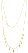 Rebecca Minkoff Bar Fringe Layer Necklace