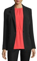 MICHAEL Michael Kors Clean One-Button Crepe Blazer
