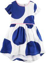 Carter's Girls 4-8 Blue Polka-Dot Dress
