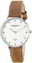 Akribos XXIV Women's AK882 Silver-Tone Watch with Diamond Markers