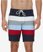 "Nautica Men's Quick-Dry Striped 8 1/2"" Swim Trunks"