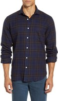 Hartford Paul Regular Fit Plaid Button-Up Flannel Shirt