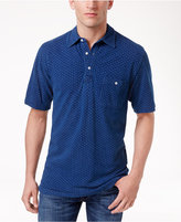 Weatherproof Vintage Men's Cross-Print Polo, Only at Macy's