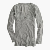 J.Crew Petite vintage cotton long-sleeve V-neck T-shirt