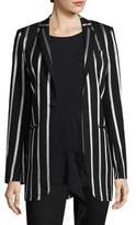Each X Other Metallic Stripe Wool-Blend Blazer