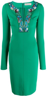 Emilio Pucci Beaded Fitted Dress