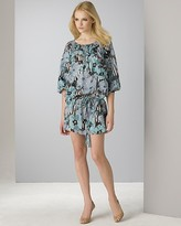eci Quotation Women's Floral Silk Tunic Dress