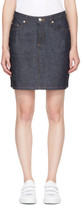 A.P.C. Navy Denim Standard Miniskirt